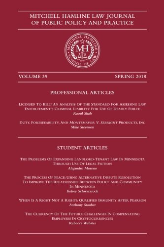 Mitchell Hamline Law Journal of Public Policy and Practice (Volume 39)