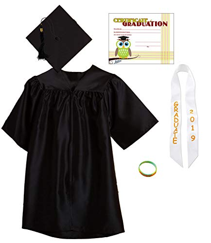 Jostens Graduation Cap And Gown Package Medium Black -