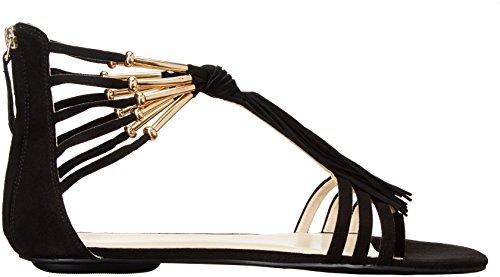 Nine Emberly Black Gladiator Fabric Sandal West Women nCgB0C