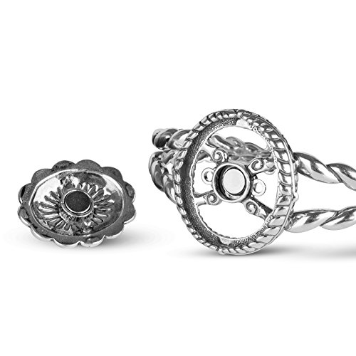American West Genuine .925 Sterling Silver Interchangeable Cuff Bracelet by American West (Image #7)