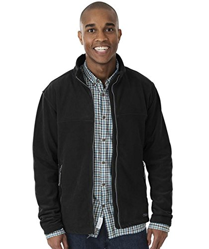 Charles River Apparel Men's Boundary Fleece Jacket, Black, 2 Extra Large (Boundary Fleece)