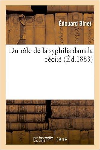 Lire Du rôle de la syphilis dans la cécité pdf