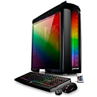 CybertronPC Palladium GXH7201A Gaming PC, Intel i7-7700 3.6GHz, NVIDIA GTX 1050 Ti, 8GB DDR4 Memory, 250GB NVMe M.2 SSD, 2TB HDD, Win 10 Home, Black/RGB