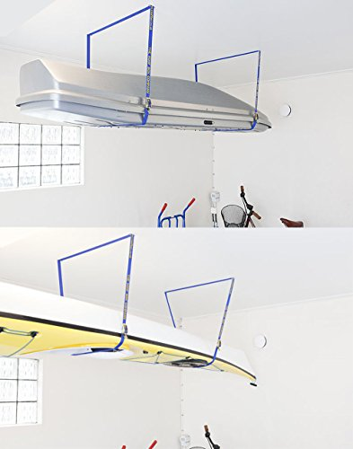 "Fasty - Box Lift Straps/Garage Storage Lift/Cargo Lift - 2 Straps - 12' Long, 1"" Wide - OSHA 100 lb - Strength 300 lb"