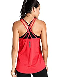 Women's Activewear Cool Mesh Workout Tank Tops With Cross Back