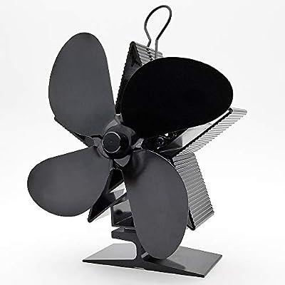 Covok - Ventilador para chimenea, sin electricidad, acero ...