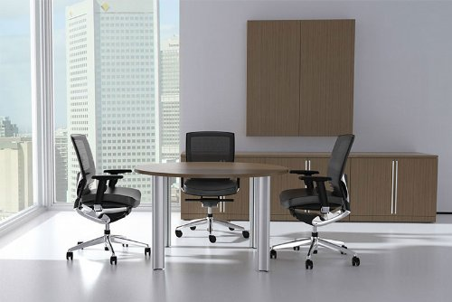 Modern Cotemporary 4' Feet Round Conference Table, #CH-VER-C3