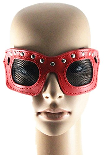Qiu ping Men's and women's new leather punk art show holiday party eye mask mask jewelry by Qiu ping
