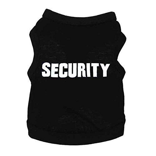 Be-Good-Pet-Cloth-Soft-and-Comfy-SECURITY-Uniform-T-Shirt-Dog-Vest-Cat-Apparel-Spring-and-Autumn-costume-for-Dog-Cat-Small-and-Medium-Animals-SML