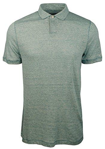 - Michael Kors Mens Linen Blend Heathered Polo Shirt Blue XL