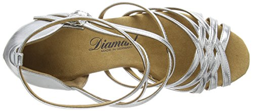 Diamant Damen Latein Tanzschuhe 108-087-013 - Zapatos de Baile - Standard & Latino Para Mujer Plateado (silber)