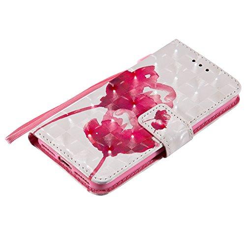 SRY-Mobile Phone Cases & Covers Caja pintada brillo del tirón de la cubierta del cuero de la cartera del soporte de la cartera del cuero 3D para el iPhone 7 / iPhone 8 ( PATTERN : 4 ) 3