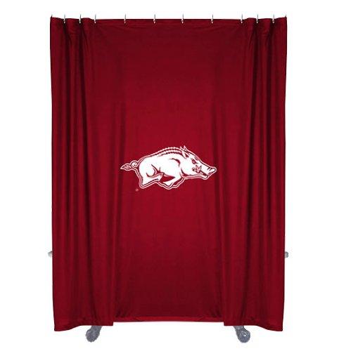 Arkansas Razorbacks Shower Curtain - NCAA Arkansas Razorbacks College Bathroom Shower Curtain