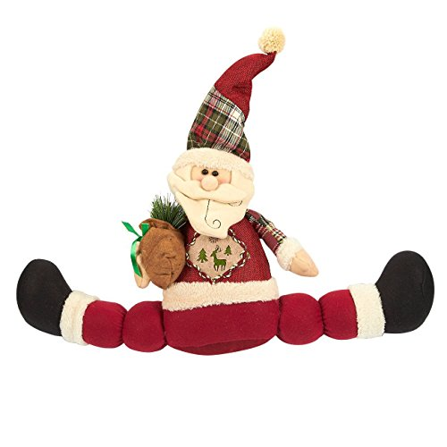 Santa Claus Doll Decoration - Christmas Decoration, Merry Christmas Decor, Santa Plush Toy for Children, Home Decoration Figure, Red - 23 x 19 x 2.5 Inches (Santa Figure Plush)