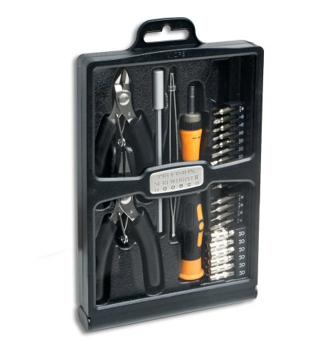 Syba 32 Piece Hobby Tool Kit Housed in a Black Slim Handsome Fold-out Case (SY-ACC65049)