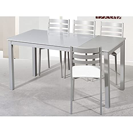 SHIITO Mesa de Cocina Extensible de 120x80 cm con un ala y ...