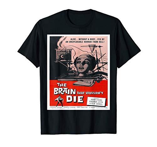 Brain That Wouldn't Die - Classic Retro Horror Film T Shirt (Brain Dead T-shirt)