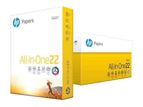 Economy Copy Paper - HP Printer Paper, All In One22, 8.5 x 11 Paper, Letter Size, 22lb Paper, 96 Bright, 5,000 Sheets / 10 Ream Carton (207010C) Acid Free Paper