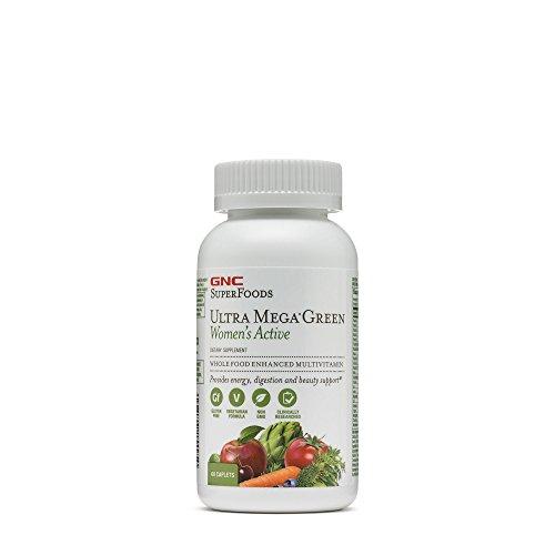 GNC Ultra Mega Green Women's Active Multi Vitamins, 60 Count