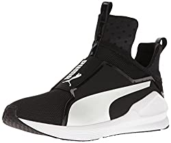 Puma Women's Fierce Core Sneaker, Black White, 8.5 M Us
