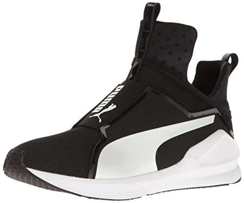 PUMA Women's Fierce Core Sneaker, Black White, 9.5 M US