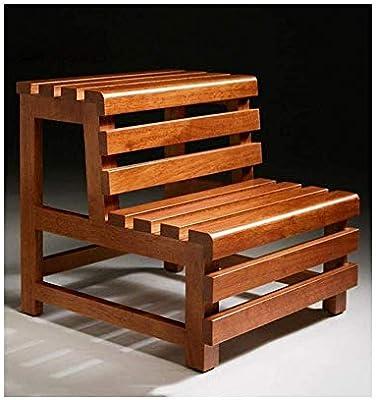 GBX Taburete de madera maciza de madera maciza Escalera auxiliar Familia Escalera decorativa personalizada Marco de flores Escalera Ventana de la bahía Taburete retro de pie de doble escalón personal: Amazon.es: Bricolaje