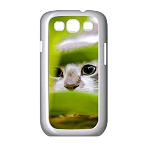 Case For Samsung Galaxy S3, Cute Cat Hiding Case For Samsung Galaxy S3, Stevebrown5v White
