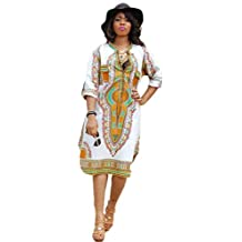 Franterd Women Mini Dresses, Traditional African Print Dress Party Jumpsuits