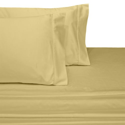 Gold Standard Pillow Set (Ultra Soft & Exquisitely Smooth Genuine 100% Plush Cotton Crisp Percale Pillowcases, 2 Piece Solid Standard Size Pillowcase Set, Gold)
