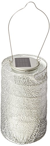 Allsop Home and Garden Soji Stella Market, LED Outdoor Solar Lantern, Handmade with Weather-Resistant UV Rated Tyvek fabric, Stainless Steel Hardware, Auto sensor on/off,  for Patio, Deck, Garden, Col
