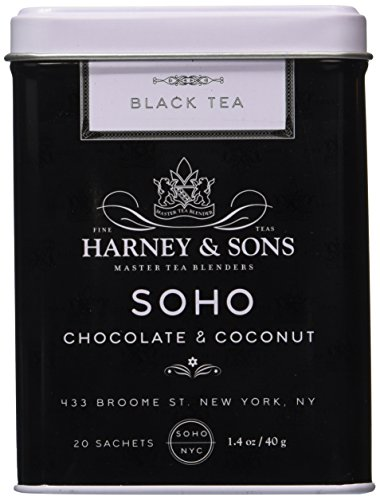 Harney & Sons SoHo Chocolate Coconut Tea - 20 Count Sachet Tin