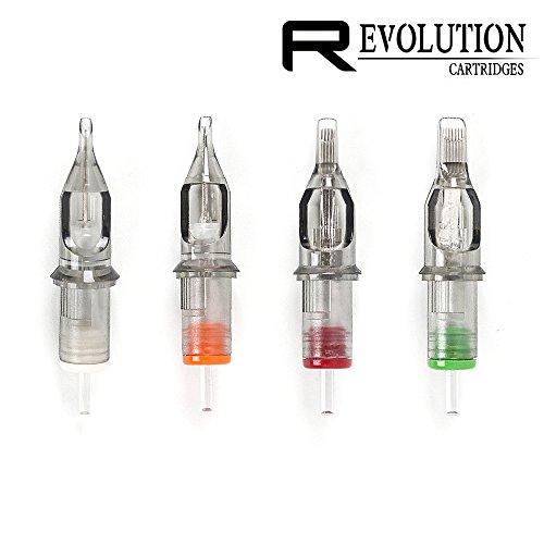 EZTAT2 Revolution Tattoo Needle Cartridges Regular Round Shader Medium or Long Taper