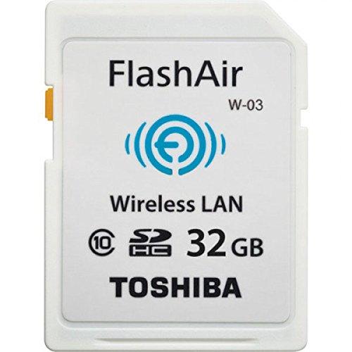Toshiba FlashAir W-03 32GB Wireless SD Flash Memory Card Wi-Fi Full HD - SD-F32AIR03(8