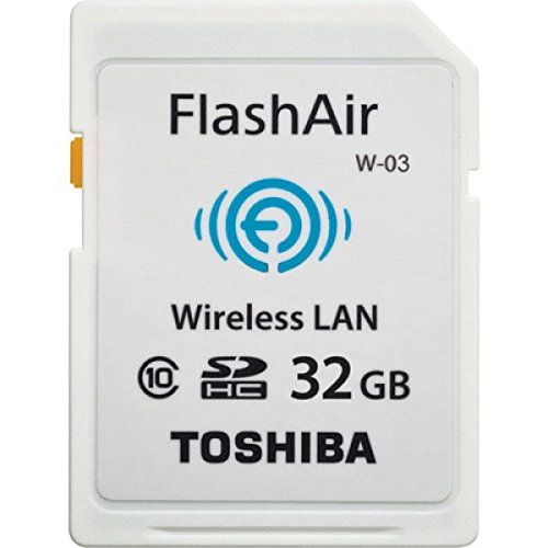 TOSHIBA (도시바) 무선 LAN 기능이 탑재 된 SDHC 카드 FlashAir W-03 [32GB] Class10 SD-R032GR7AL03A / TOSHIBA (Toshiba) Wireless LAN SDHC card FlashAir W-03 [32GB] CLASS10 SD-R032GR7AL03A