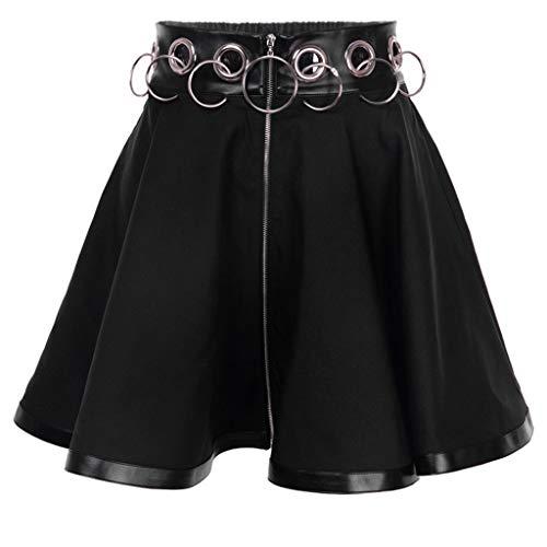 Falda para Mujer, Falda de Cintura Alta, Anillo de Hierro Hueco ...
