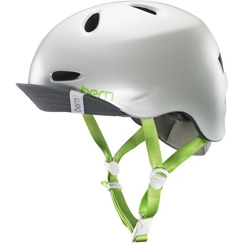 Bern Unlimited Berkeley Summer Helmet with Visor (Satin Delphin Grey w/ Flip Visor, Small) ()