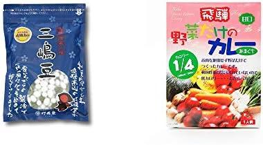[2点セット] 飛騨 打保屋 駄菓子 三嶋豆(150g)・天領食品 野菜だけのカレー 【甘口】 (1食分)