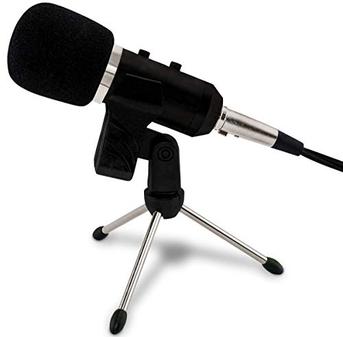 (Professional USB Wired Studio Mic Condenser Recording Microphone w/Stand)