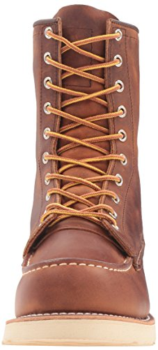 8830 Classic Moc 8'' Leather Copper Red Mens Toe Boots Wing nqYURaWvcw