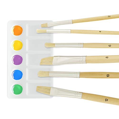 US Art Supply 21-Piece Acrylic Painting Table Easel Set with, 12-Tubes Acrylic Painting Colors, 11''x14'' Stretched Canvas, 6 Artist Brushes, Plastic Palette with 10 Wells by US Art Supply (Image #3)