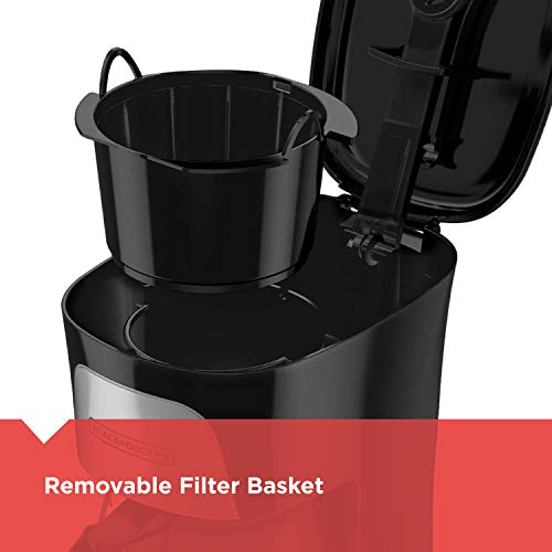 BLACK+DECKER Duralife Glass Carafe, Black, CM0555B