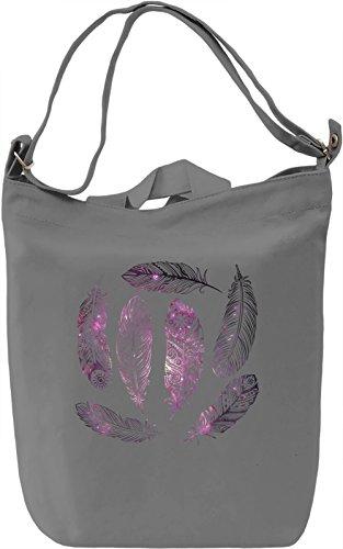 Galaxy Feathers Borsa Giornaliera Canvas Canvas Day Bag  100% Premium Cotton Canvas  DTG Printing 