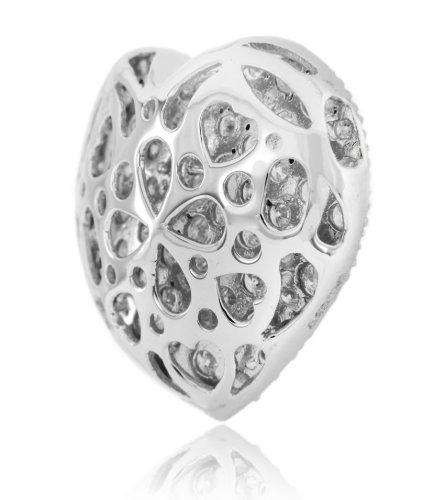 Carissima Gold Pendentif 18carats (750/1000) Or Blanc Rond Diamant Femme 1.8 centimeters