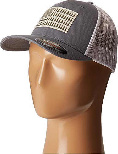 - Columbia Men's Mesh Ball Cap, Grey Ash/Tree Patch, S/M