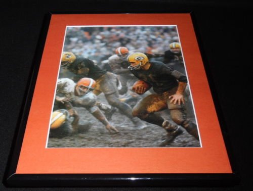 Jim Taylor Muddy Framed 11x14 Photo Display 1965 NFL Championship Packers ()