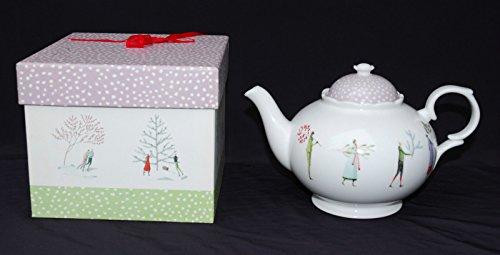Portmeirion Laura Stoddard A Fine Romance Bone China Teapot, 1.5 Pint
