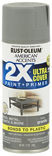 Paint Spray Exterior - Rust-Oleum 327931-6PK American Accents Ultra Cover 2X Satin, 6 Pack, Granite