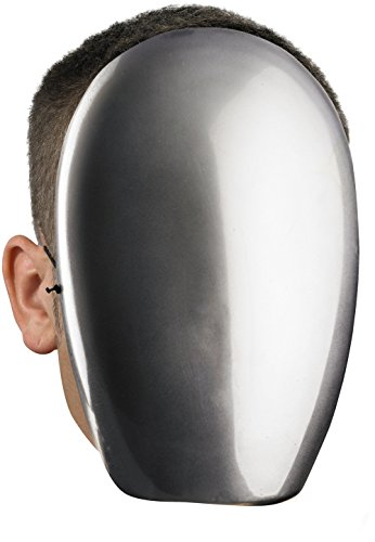 No Face Chrome Mask Costume Accessory