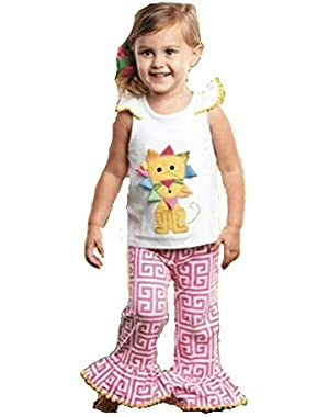 Baby Girls Lion Pant Set (0/6M)