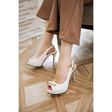 LvYuan Mujer-Tacón Stiletto-Otro-Sandalias-Oficina y Trabajo Vestido Fiesta y Noche-PU-Azul Rosa Blanco Blue